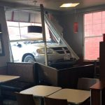 Accident au restaurant Tim Hortons de Dalhousie. - Gracieuseté D. Leblanc
