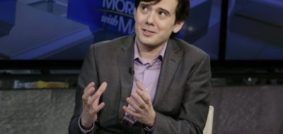 """FILE - In this Aug. 15, 2017, file photo, former pharmaceutical CEO Martin Shkreli speaks during an interview by Maria Bartiromo during her """"Mornings with Maria Bartiromo"""" program on the Fox Business Network, in New York. On Sept. 6, 2017, Shkreli put the only known copy of a Wu-Tang Clan album he bought for $2 million in 2015 up for sale on eBay. (AP Photo/Richard Drew, File)"""